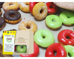 Assorted Colorful  Doughnuts 3pcs :3 Flavours (240g)