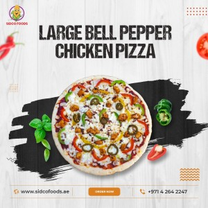 Pizza Large Bell pepper chicken