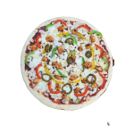 Large Bell pepper chicken pizza